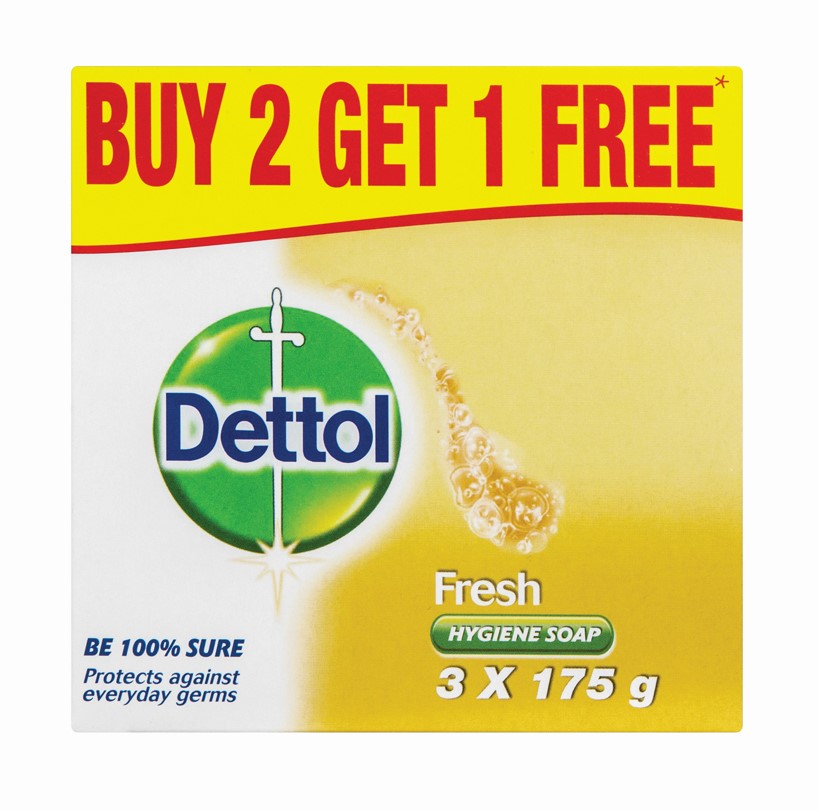 Dettol Soap Fresh Value Pack – 3 x 175g - Grays Home Delivery