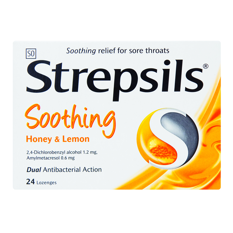 Strepsils Honey & Lemon 24's - Grays Home Delivery