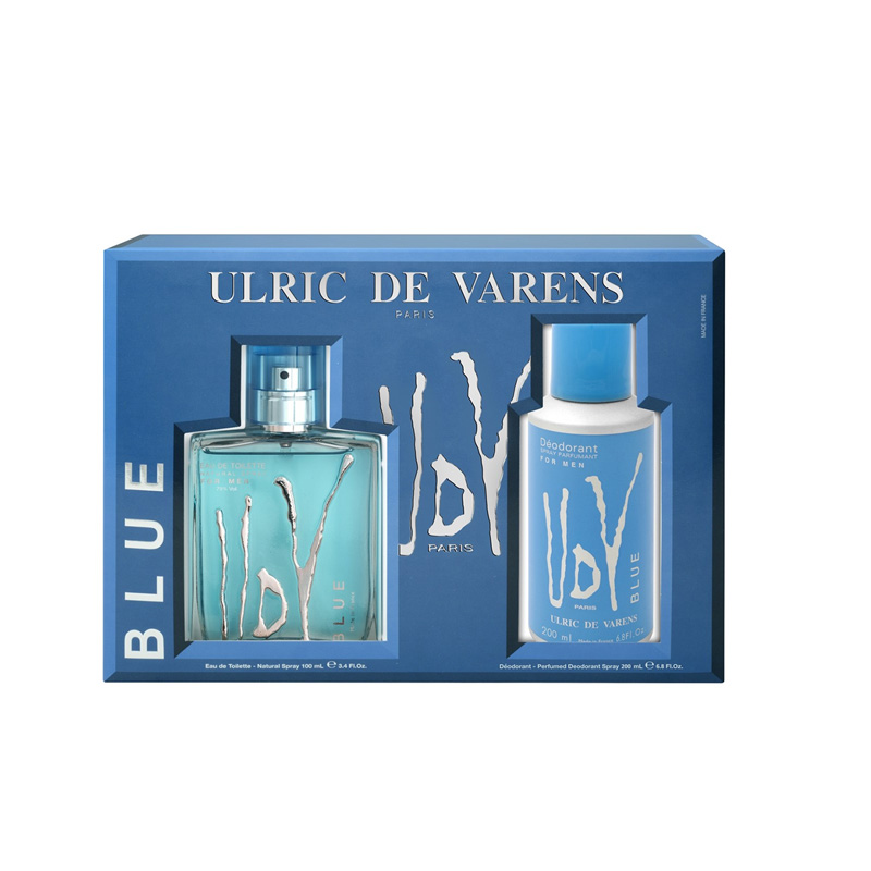 Ulric de Varens For Men Blue Coffret –  (Edt 100ml + Deo 200ml) - Grays Home Delivery