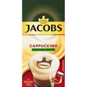 JACOBS INSTANT CAPPUCCINO REDUCED SUGAR – 18.6G X 10S - Grays Home Delivery
