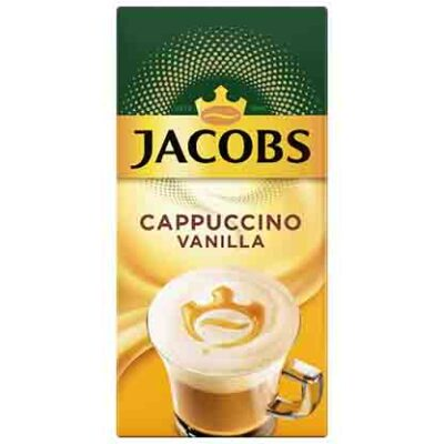 JACOBS INSTANT CAPPUCCINO VANILLA – 18.7G X 10S - Grays Home Delivery