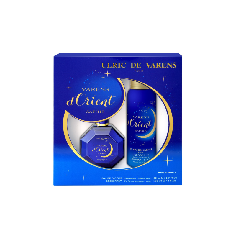 Ulric de Varens For Her Varens D'Orient Saphir Coffret – (EDP 50ml + Deo 125ml) - Grays Home Delivery