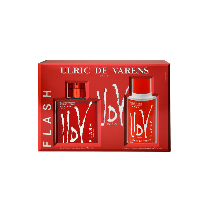 Ulric de Varens For Him Flash Cofffet – (EDT 100ml + Deo 200ml) - Grays Home Delivery
