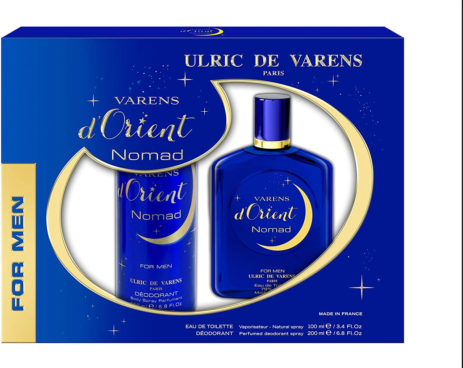 Ulric de Varens For Him Varens D'Orient Nomad Coffret – (EDT 100ml + Deo 200ml) - Grays Home Delivery