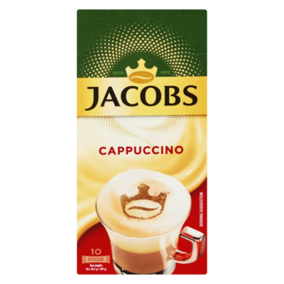 JACOBS INSTANT CAPPUCCINO – 18.7G X 10S - Grays Home Delivery
