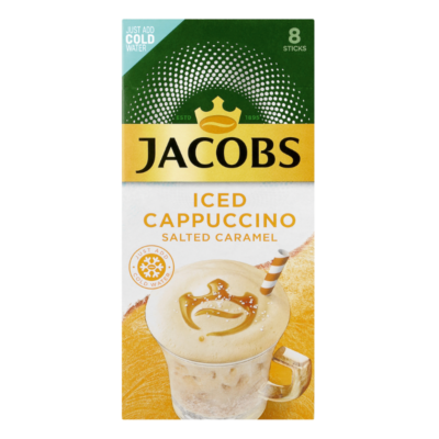 JACOBS ICED CAPPUCCINO – SALTED CARAMEL 23.2G X 8S - Grays Home Delivery