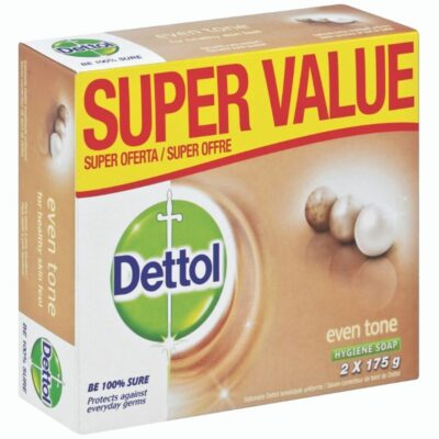 Dettol Soap Even Tone Value Pack – 2 x 175g - Grays Home Delivery