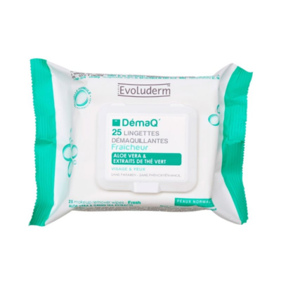 Evoluderm Fresh Makeup Remover Wipes – 25 Pcs - Grays Home Delivery