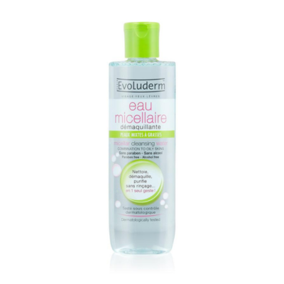 Evoluderm Micellar Cleansing Water Combination To Oily Skin – 250ml - Grays Home Delivery