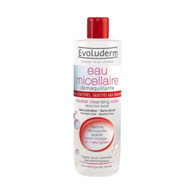 Evoluderm Micellar Cleansing Water Reactive Skin, Prone To Redness – 250ml - Grays Home Delivery
