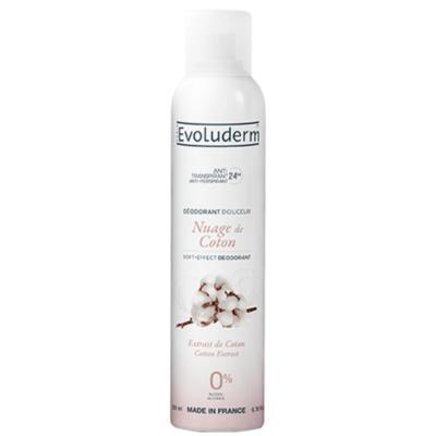Evoluderm Nuage De Coton Anti-Perspirant Soft-Effect Deodorant – 200ml - Grays Home Delivery