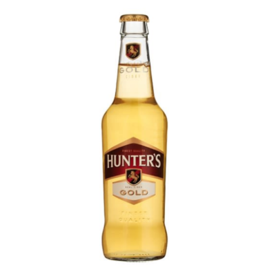 HUNTERS GOLD – 330ML 4.5% - Grays Home Delivery