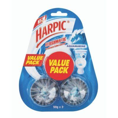 Harpic Flushmatic Blocks Value Pack Aquamarine – 3x50g - Grays Home Delivery