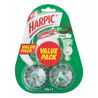 Harpic Flushmatic Blocks Value Pack Pine – 3x50g - Grays Home Delivery
