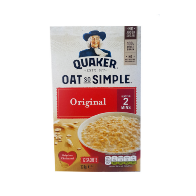 QUAKER OATS SO SIMPLE ORIGINAL – 12 SACHETS X 27G - Grays Home Delivery