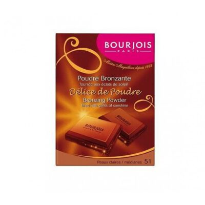 Bourjois Delice De Poudre Bronzing Powder –  51 Light/Median Complexions - Grays Home Delivery