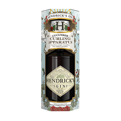 HENDRICK'S GIFTPACK WITH CUCUMBER CURLER – 700ML 41.4% - Grays Home Delivery